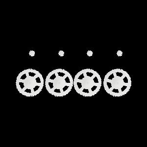 Lot de 4 couronnes et 4 pignons pour drone DR-60W
