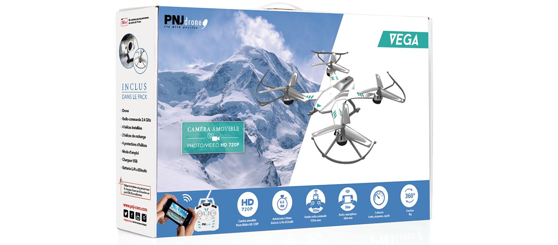 Inclus dans le pack: Drone VEGA avec caméra HD amovible…