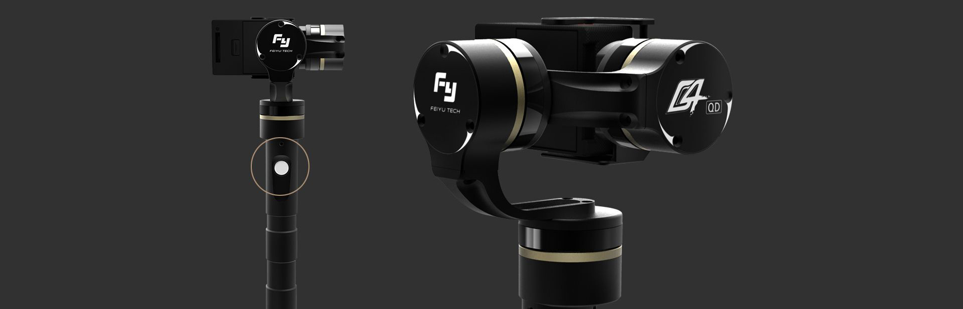 Feiyu G4QD – 3-axis stabilizer for Action cam