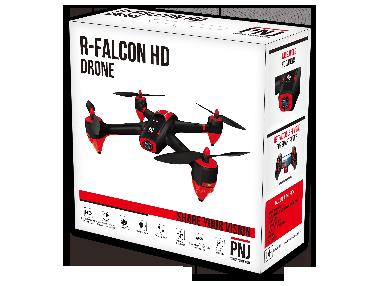 Inclus dans le pack : 1xDrone R-Falcon HD 1xRadio-commande 4xHélices…
