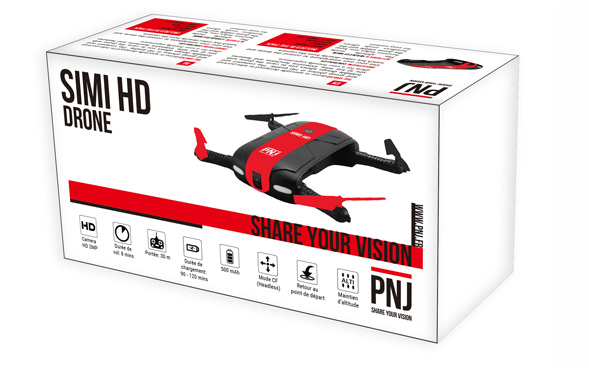 Included in the pack: X1 SIMI HD drone X4 extra…