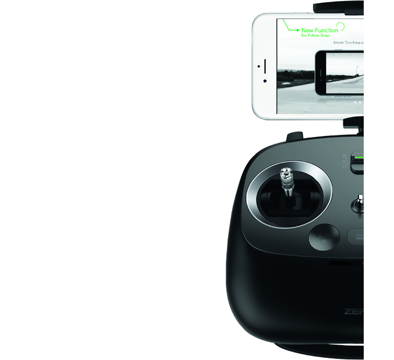 De nombreuses fonctions à portée de main Contrôlez votre drone…