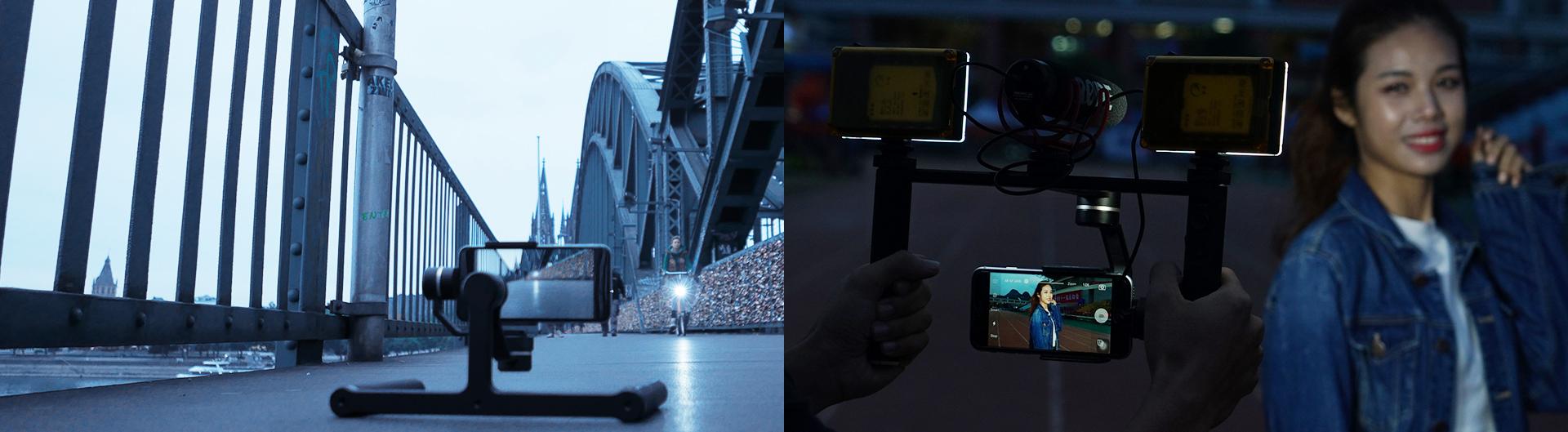 Stabilisateur SPG plus à double poignée pour smartphone