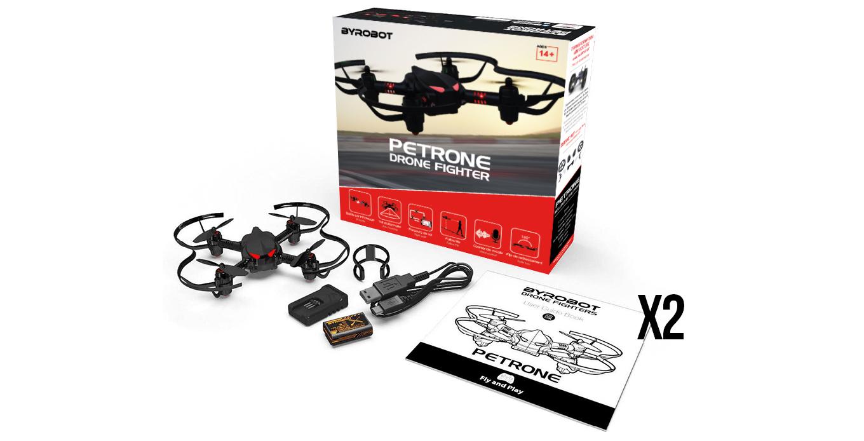2 drones de combat Petrone Fighter L'avantage de ce pack…