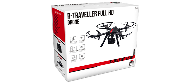 Inclus dans le pack : 1x R-Traveller Full HD 1X…