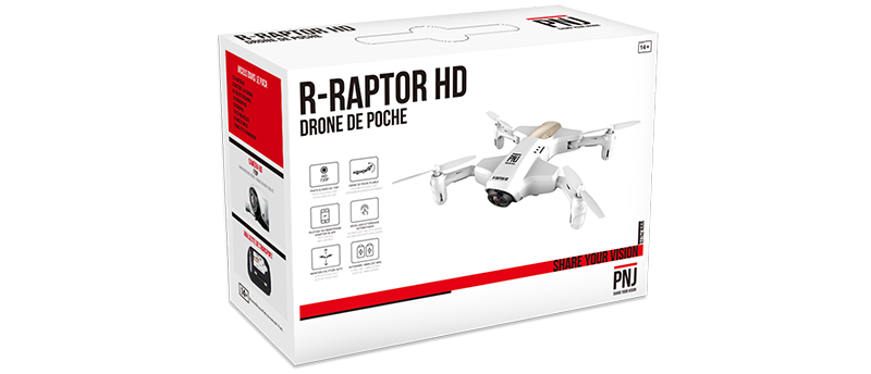 Inclus dans le pack : 1X R-Raptor HD 2X Batterie…