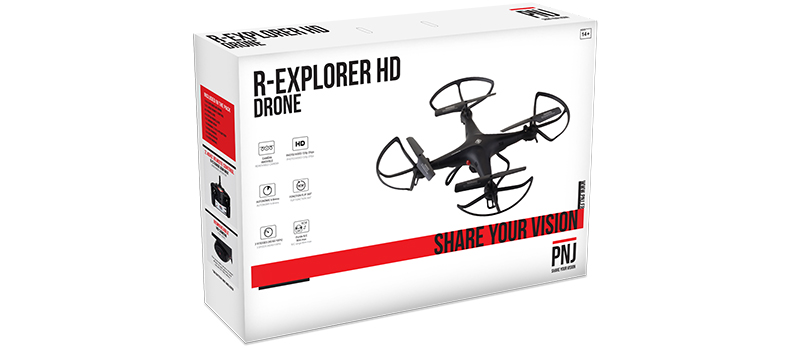 Inclus dans le pack : 1X drone R-EXPLORER HD 1X…