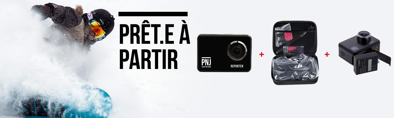 Pack ski | Caméra REPORTER + extra batterie + accessoires