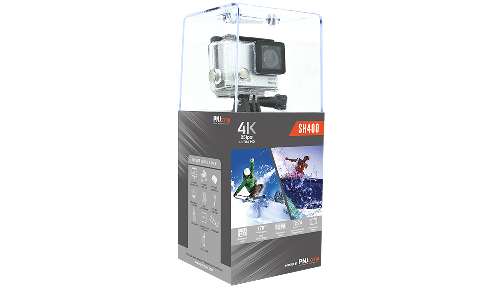 Inclus dans le pack : Caméra SH400 Caisson étanche 30m…