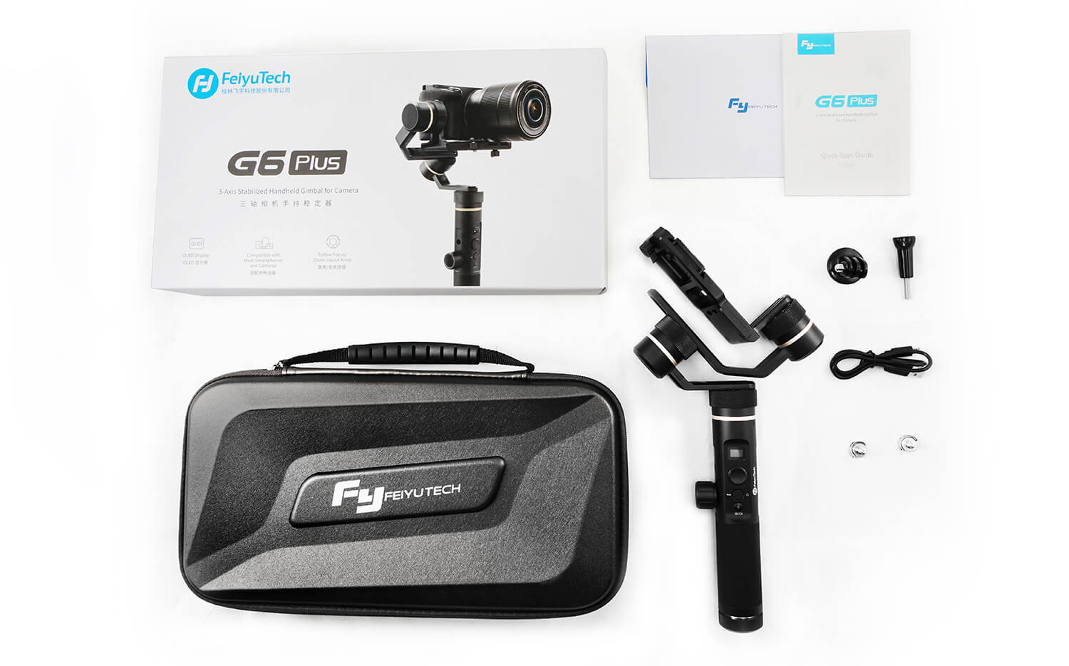 Included in the pack : 1x FeiyuTech G6 plus Stabilizer…