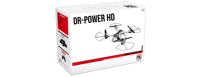 Included in the pack : 1X DR-POWER HD Drone 1X…