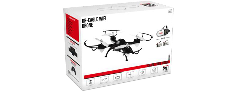 Inclus dans le pack : 1 Drone DR EAGLE WIFI…