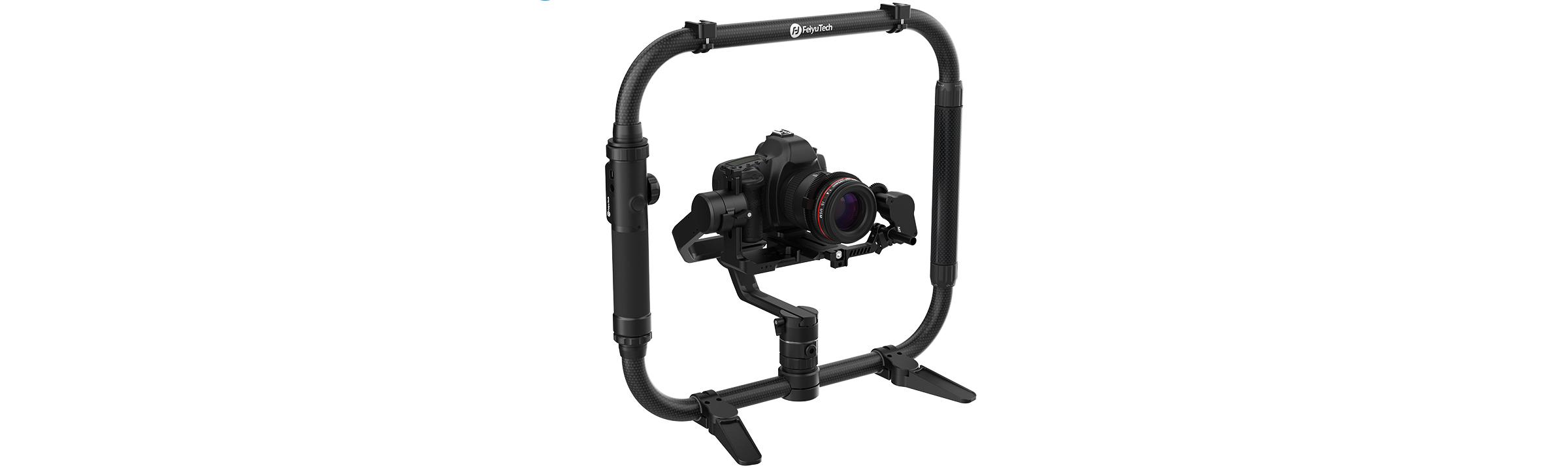 Stabilisateur FeiyuTech AK4000, follow focus Ring 2 et double poignée