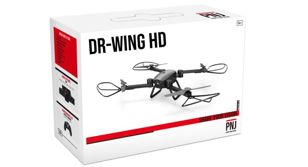 Inclus dans le pack : 1X DR-WING HD 2X Batteries…