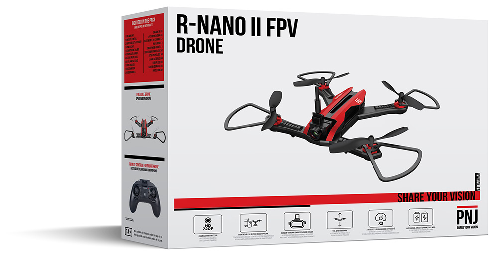 Inclus dans le pack : 1x Drone R NANO II…