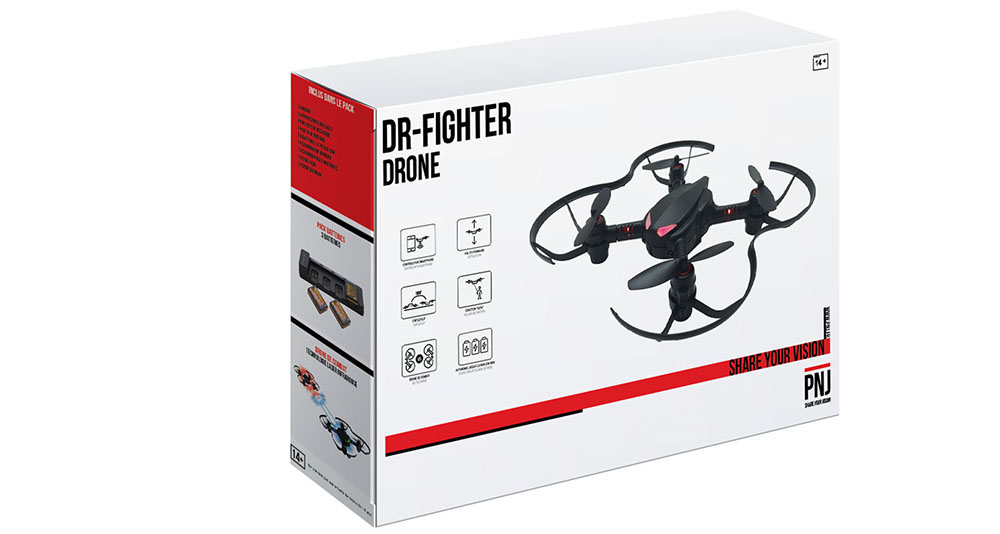 Inclus dans le pack: Mini-drone de combat DR FIGHTER Power…